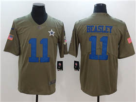 Dallas Cowboys #11 Cole Beasley 2017 Olive Salute To Service Limited Jersey