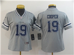 Dallas Cowboys #19 Amari Cooper Women's Gray Inverted Limited Jersey
