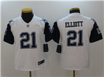 Dallas Cowboys #21 Ezekiel Elliott Youth White Color Rush Limited Jersey