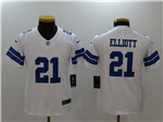 Dallas Cowboys #21 Ezekiel Elliott Youth White Vapor Untouchable Limited Jersey