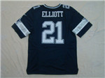 Dallas Cowboys #21 Ezekiel Elliott Elite Navy Blue Jersey