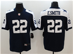 Dallas Cowboys #22 Emmitt Smith Thanksgiving Blue Vapor Untouchable Limited Jersey