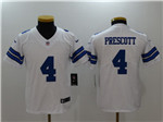 Dallas Cowboys #4 Dak Prescott Youth White Vapor Untouchable Limited Jersey
