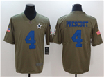Dallas Cowboys #4 Dak Prescott 2017 Olive Salute To Service Limited Jersey