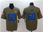 Dallas Cowboys #50 Sean Lee 2017 Olive Salute To Service Limited Jersey