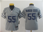 Dallas Cowboys #55 Leighton Vander Esch Youth Gray Inverted Limited Jersey
