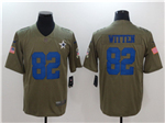 Dallas Cowboys #82 Jason Witten 2017 Olive Salute To Service Limited Jersey