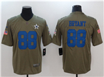 Dallas Cowboys #88 Dez Bryant 2017 Olive Salute To Service Limited Jersey