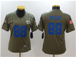 Dallas Cowboys #88 Dez Bryant Women's Olive Salute To Service Limited Jersey