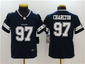Dallas Cowboys #97 Taco Charlton Youth Blue Vapor Untouchable Limited Jersey