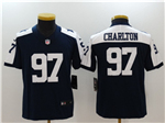 Dallas Cowboys #97 Taco Charlton Youth Thanksgiving Blue Vapor Untouchable Limited Jersey