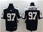 Dallas Cowboys #97 Taco Charlton Thanksgiving Blue Vapor Untouchable Limited Jersey