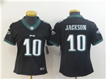 Philadelphia Eagles #10 DeSean Jackson Women's Black Vapor Untouchable Limited Jersey
