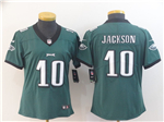 Philadelphia Eagles #10 DeSean Jackson Women's Green Vapor Untouchable Limited Jersey