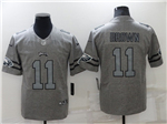 Philadelphia Eagles #11 Carson Wentz 2019 Gray Gridiron Gray Limited Jersey