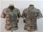 Philadelphia Eagles #11 Carson Wentz Women's 2018 Camo Salute To Service Limited Jersey