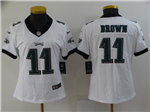Philadelphia Eagles #11 Carson Wentz Women's White Vapor Untouchable Limited Jersey