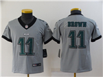 Philadelphia Eagles #11 Carson Wentz Youth Gray Inverted Limited Jersey