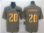 Philadelphia Eagles #20 Brian Dawkins 2019 Olive Gold Salute To Service Limited Jersey