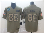 Philadelphia Eagles #86 Zach Ertz 2019 Olive Camo Salute To Service Limited Jersey