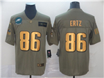 Philadelphia Eagles #86 Zach Ertz 2019 Olive Gold Salute To Service Limited Jersey