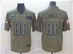Philadelphia Eagles #86 Zach Ertz 2019 Olive Salute To Service Limited Jersey