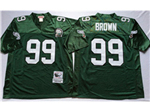 Philadelphia Eagles #99 Jerome Brown 1992 Throwback Green Jersey