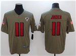 Atlanta Falcons #11 Julio Jones 2017 Olive Salute To Service Limited Jersey