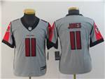 Atlanta Falcons #11 Julio Jones Youth Gray Inverted Limited Jersey