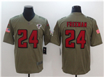 Atlanta Falcons #24 Devonta Freeman 2017 Olive Salute To Service Limited Jersey