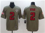 Atlanta Falcons #2 Matt Ryan 2017 Olive Salute To Service Limited Jersey