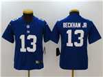 New York Giants #13 Odell Beckham Jr. Youth Blue Vapor Untouchable Limited Jersey