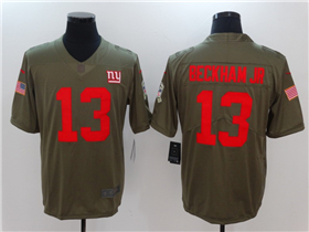 New York Giants #13 Odell Beckham Jr. 2017 Olive Salute To Service Limited Jersey