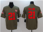 New York Giants #21 Landon Collins 2017 Olive Salute To Service Limited Jersey
