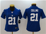 New York Giants #21 Landon Collins Women's Blue Vapor Untouchable Limited Jersey