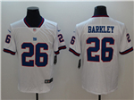 New York Giants #26 Saquon Barkley White Color Rush Limited Jersey