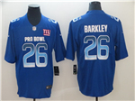 NFC New York Giants #26 Saquon Barkley Blue 2019 Pro Bowl Limited Jersey