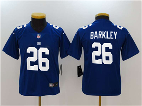New York Giants #26 Saquon Barkley Youth Blue Vapor Untouchable Limited Jersey