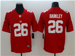 New York Giants #26 Saquon Barkley Red Vapor Untouchable Limited Jersey