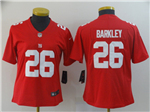 New York Giants #26 Saquon Barkley Women's Red Inverted Limited Jersey