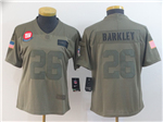 New York Giants #26 Saquon Barkley Women's 2019 Olive Salute To Service Limited Jersey
