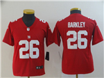 New York Giants #26 Saquon Barkley Youth Red Inverted Limited Jersey