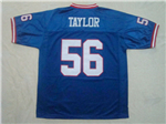 New York Giants #56 Lawrence Taylor 1990 Throwback Blue Jersey