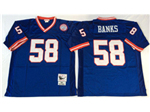 New York Giants #58 Carl Banks 1986 Throwback Blue Jersey