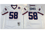 New York Giants #58 Carl Banks 1986 Throwback White Jersey