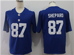 New York Giants #87 Sterling Shepard Blue Vapor Untouchable Limited Jersey