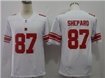 New York Giants #87 Sterling Shepard White Vapor Untouchable Limited Jersey