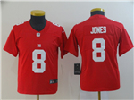 New York Giants #8 Daniel Jones Youth Red Inverted Limited Jersey