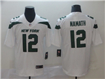 New York Jets #12 Joe Namath 2019 New White Vapor Untouchable Limited Jersey