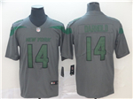 New York Jets #14 Sam Darnold Gray Inverted Limited Jersey